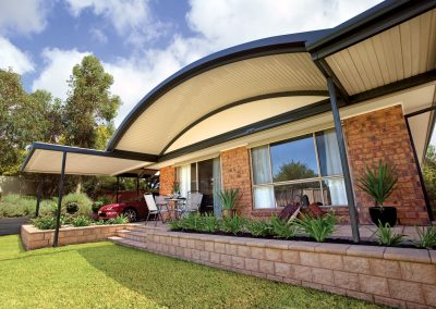 Curved Awning colourbond roof Blue Mountains