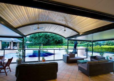 Curved Awning colourbond roof Verandah