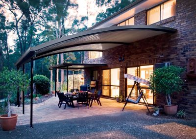 Curved Awning colourbond roof carport