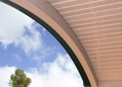 Curved Awning colourbond roof Penrith