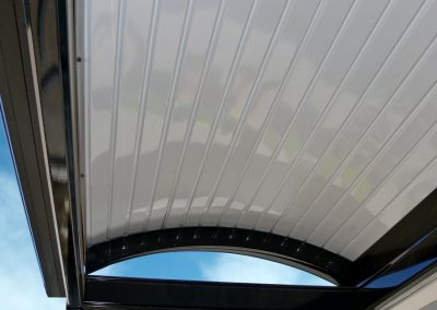 Curved Awning colourbond roof