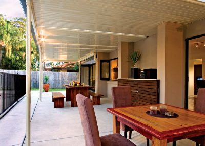 Outdoor awning roof