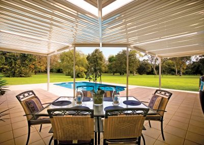 Pool entertaining area roof installation Blue Mountains