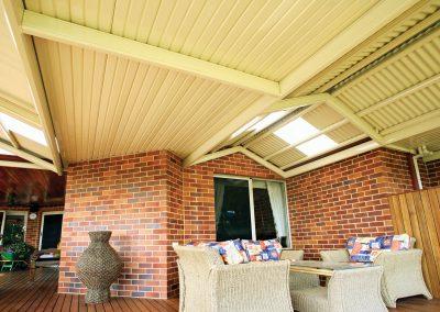 Colourbond gable awning installation