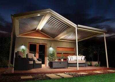 Gable Backyard patio awning roof